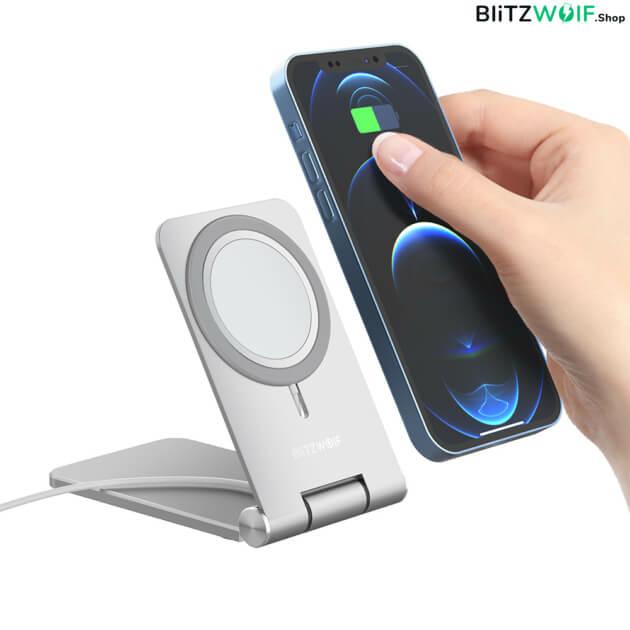 BlitzWolf BW-TS5: MagSafe vezeték nélküli töltő állvány