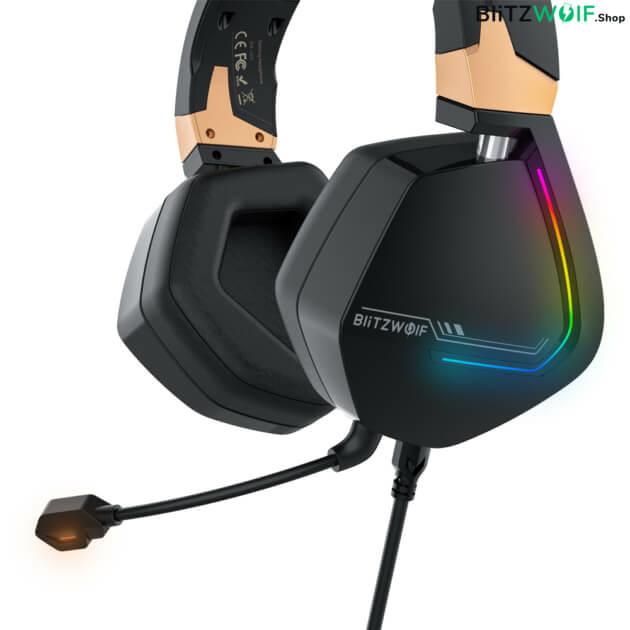 BlitzWolf BW-GH2: 7.1 gamer fejhallgató RGB leddel
