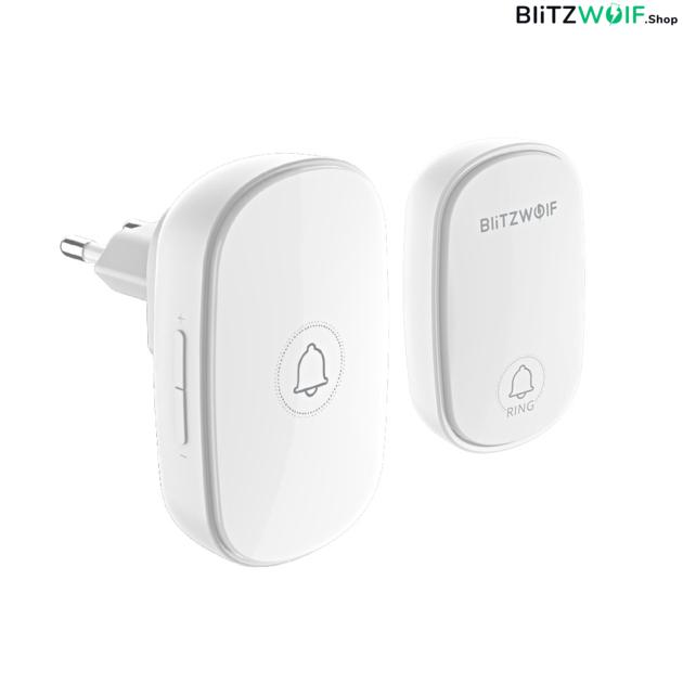 BlitzWolf BW-DB1: RF 433Mhz vezeték nélküli csengő