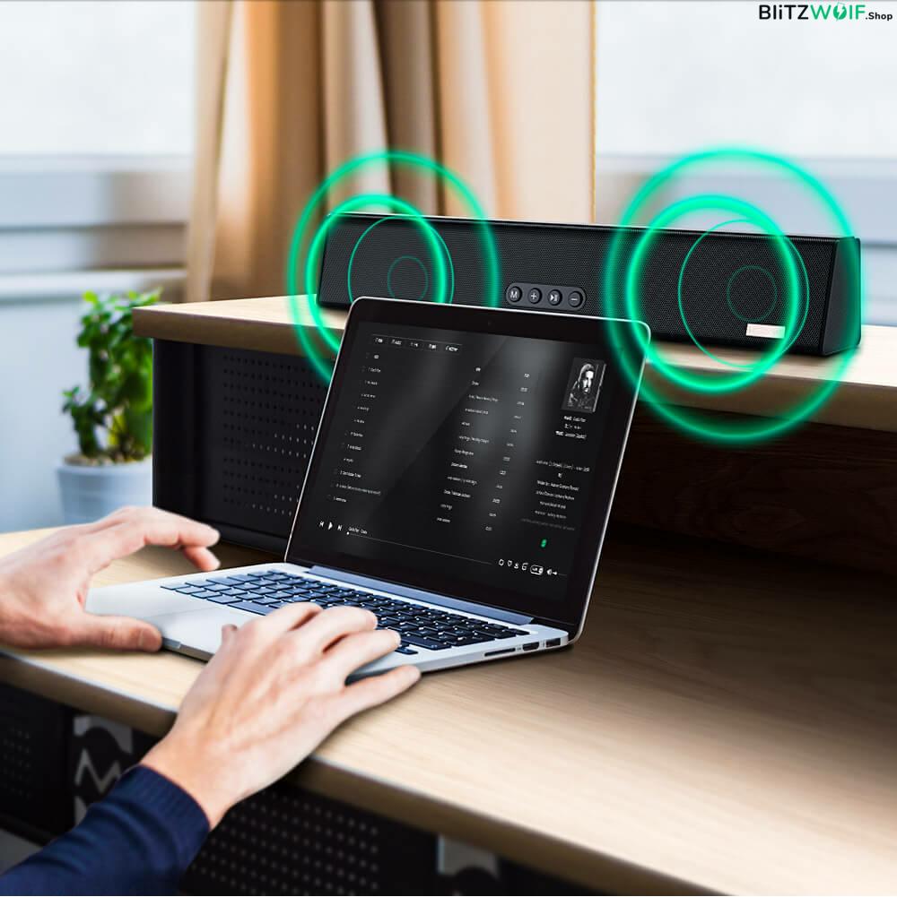 BlitzWolf® BW-HP1: vezeték nélküli Bluetooth fejhallgató beépített mikrofonnal kényelem és szabadság