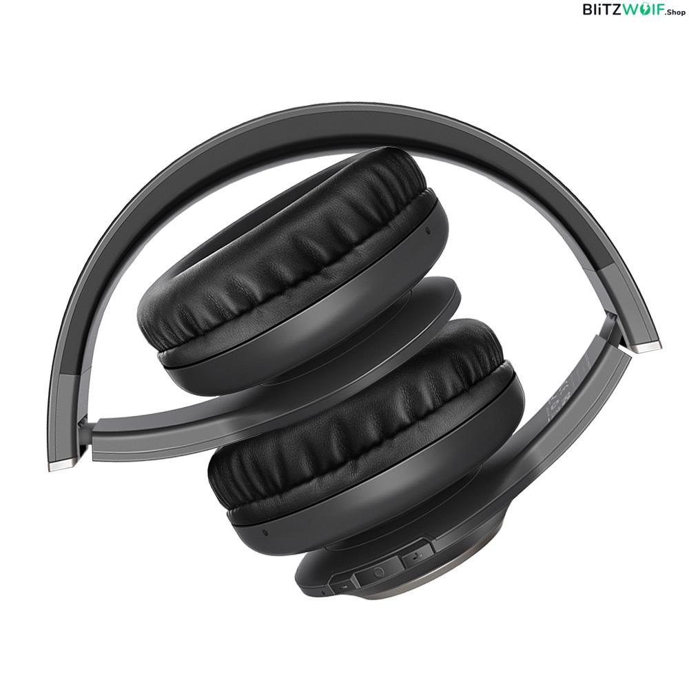 BlitzWolf® BW-HP1: vezeték nélküli Bluetooth fejhallgató beépített mikrofonnal összehajtható
