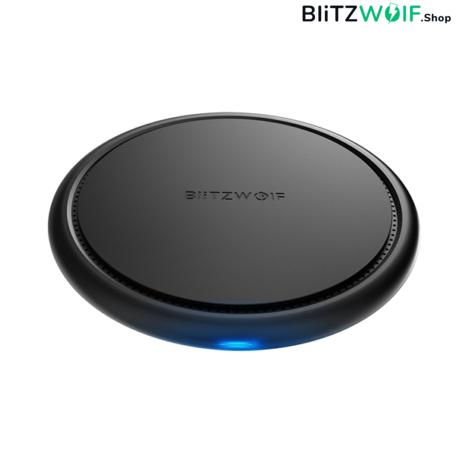 BlitzWolf® BW-FWC5: vezeték nélküli gyorstöltő pad 10W teljesítménnyel (iPhone Xs/Max, S9)