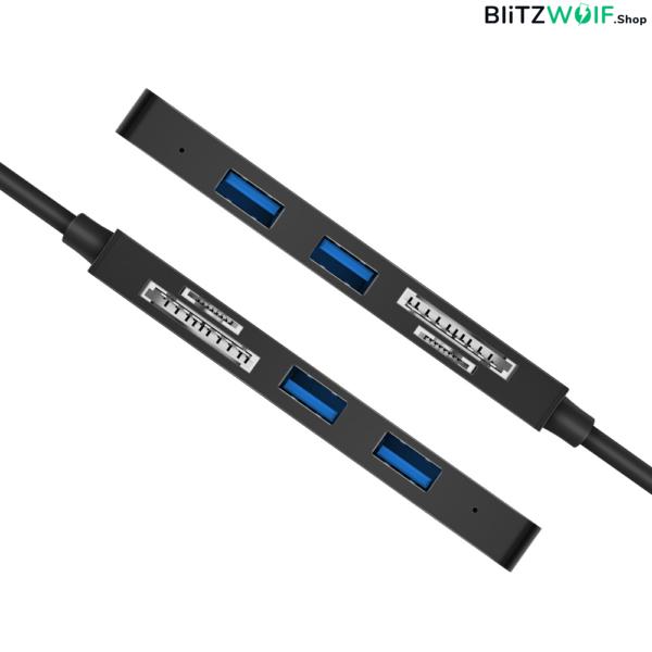 BlitzWolf® BW-TH4: 5 az 1-ben USB 3.0 Type-C elosztó HUB SD TF kártyaolvasóval