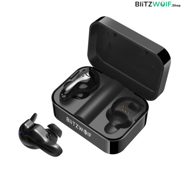 BlitzWolf® BW-FYE1: teljesen vezeték nélküli fülhallgató töltődobozzal (IPX4)