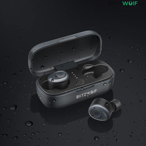 BlitzWolf® BW-FYE4: teljesen vezeték nélküli fülhallgató töltődobozzal, Bluetooth 5.0 (IPX4)