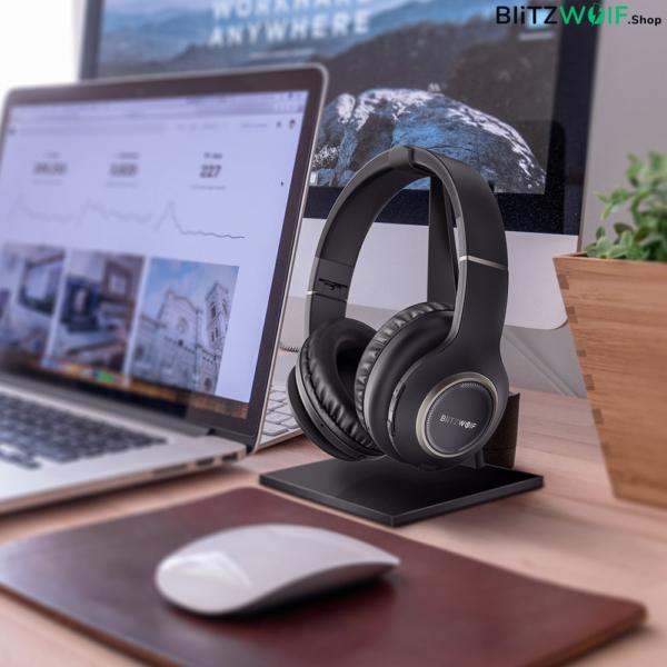 BlitzWolf® BW-HP0: vezeték nélküli Bluetooth sport fejhallgató beépített mikrofonnal
