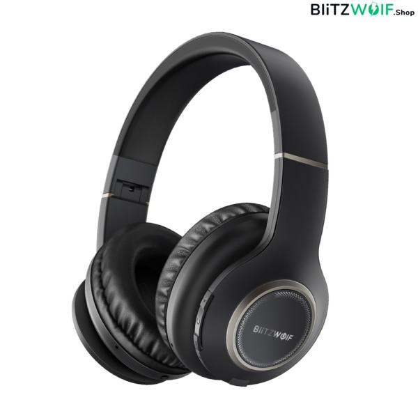 BlitzWolf® BW-HP0: vezeték nélküli Bluetooth sport fejhallgató beépített mikrofonna