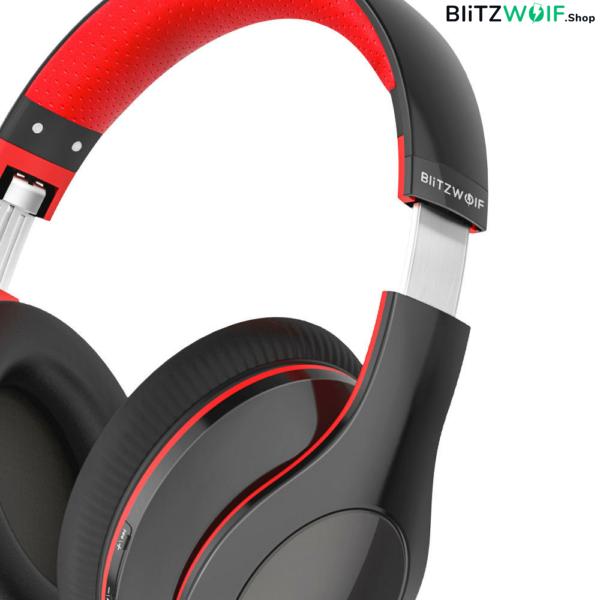 BlitzWolf® BW-HP1: vezeték nélküli Bluetooth fejhallgató beépített mikrofonnal