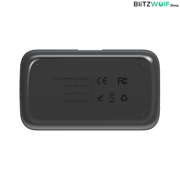 BlitzWolf® BW-FYE6: vezeték nélküli grafén fülhallgató digitális kijelzővel és mikrofonnal (IPX6)
