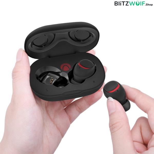 BlitzWolf® AIRAUX AA-UM1: vezeték nélküli mini fülhallgató töltődobozzal (TWS, IPX6)