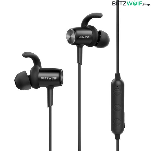 BlitzWolf® BW-BTS1: vezeték nélküli IPX4 vízálló fülhallgató mikrofonnal