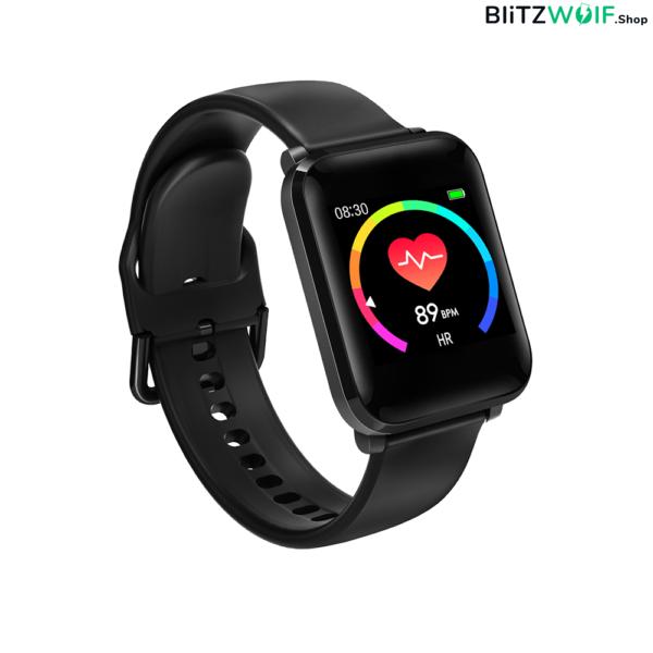 BlitzWolf BW-HL1: aktivitásmérő okosóra vérnyomás és pulzusmérővel- Fekete