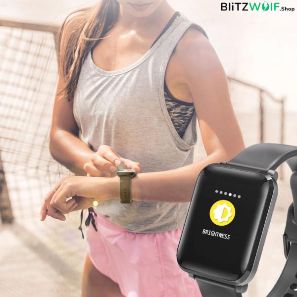 BlitzWolf BW-HL1: aktivitásmérő okosóra vérnyomás és pulzusméréssel - Fekete