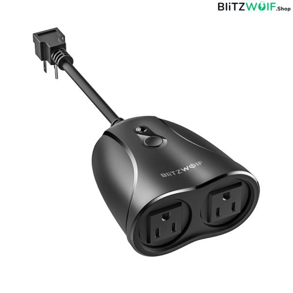 BlitzWolf® BW-SHP14: vízálló, internetről távvezérelhető okos elosztó