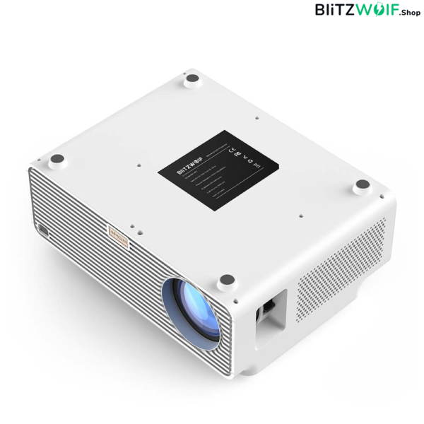 BlitzWolf® BW-VP3: házimozi projektor, kivetítő (1080p 4k, Android, 6500 lumen)