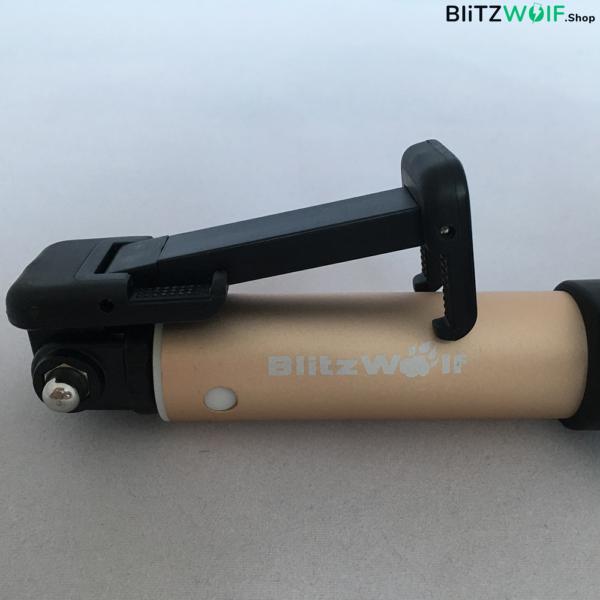 BlitzWolf® BW-BS1: alumínium bluetooth selfie bot 4 gombos vezérlővel - Arany