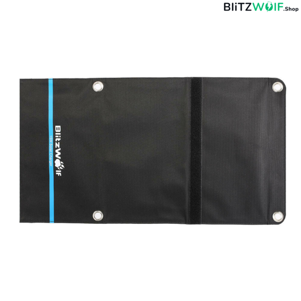 BlitzWolf® BW-L2: hordozható napelemes tok és mobiltelefon töltő (15W)