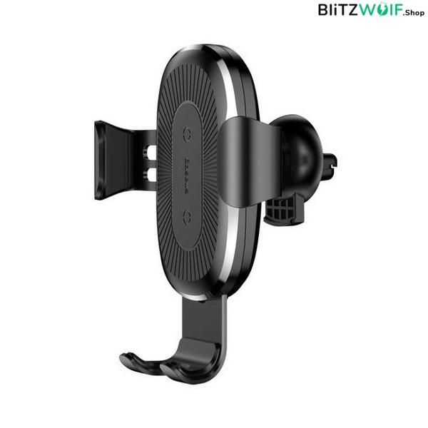 Baseus® BA-CH1: Autós telefontartó és vezeték nélküli töltő – 10W
