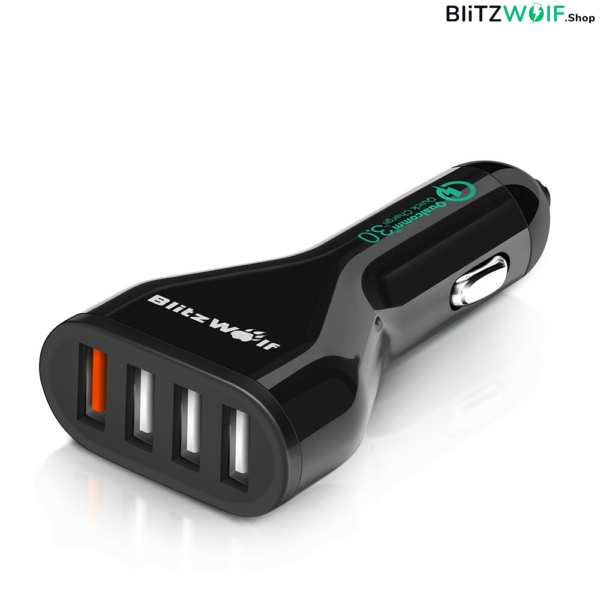 BlitzWolf® BW-C10: USB autós töltő - 54W