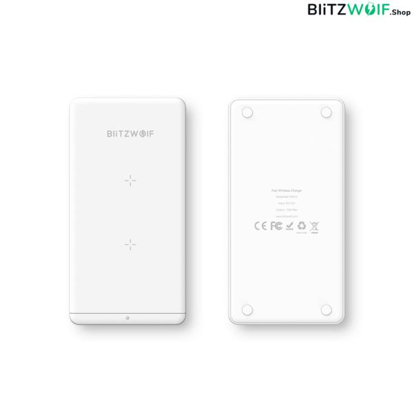 BlitzWolf® BW-FWC2: összecsukható vezeték nélküli gyorstöltő (iPhone 8, iPhone X, Samsung S7 edge, Samsung S9, Xiaomi Mi Mix 2S