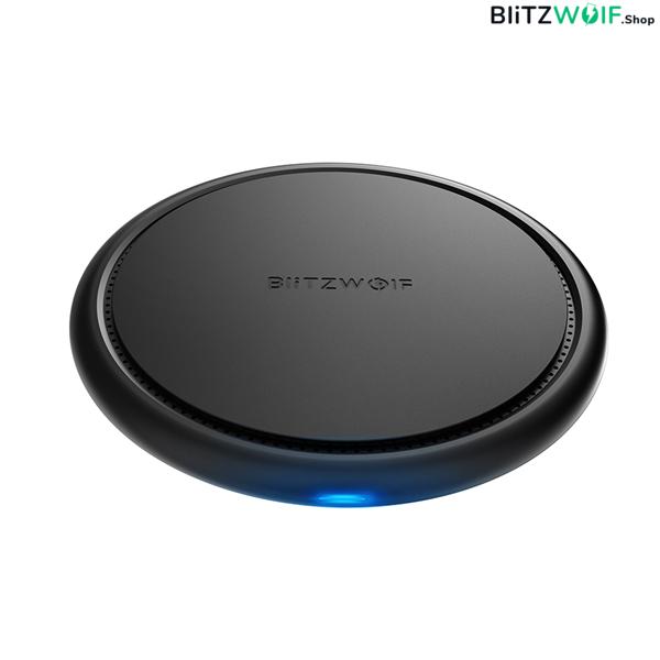 BlitzWolf® BW-FWC5: vezeték nélküli gyorstöltő pad 10W teljesítménnyel (Samsung, Huawei, Apple)