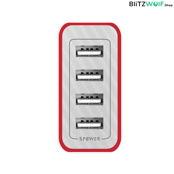 BlitzWolf® BW-PL1: 4 portos USB hálózati gyorstöltő – 40W