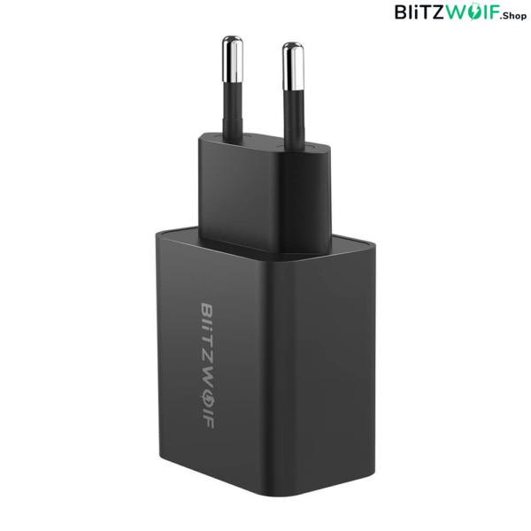 BlitzWolf® hálózati gyorstöltő (27W) + USB PD Type-C és Lightning töltő-és adatkábel