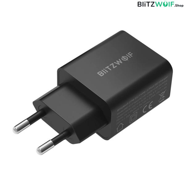 BlitzWolf® BW-S12: 27W-os gyorstöltő adapter Type-C porttal (QC4+, QC4.0, QC3.0, PD) - akár 27W-os töltés