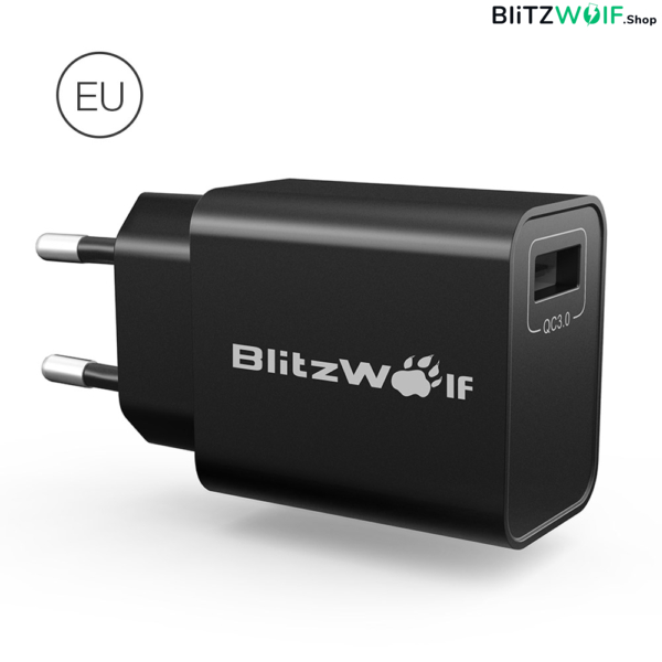 BlitzWolf® BW-S9: USB hálózati töltő adapter + MicroUSB adatkábel - 18W