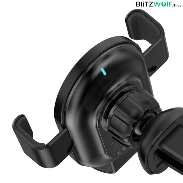 BlitzWolf® BW-CW1: autós telefontartó és vezeték nélküli gyorstöltő - 10W