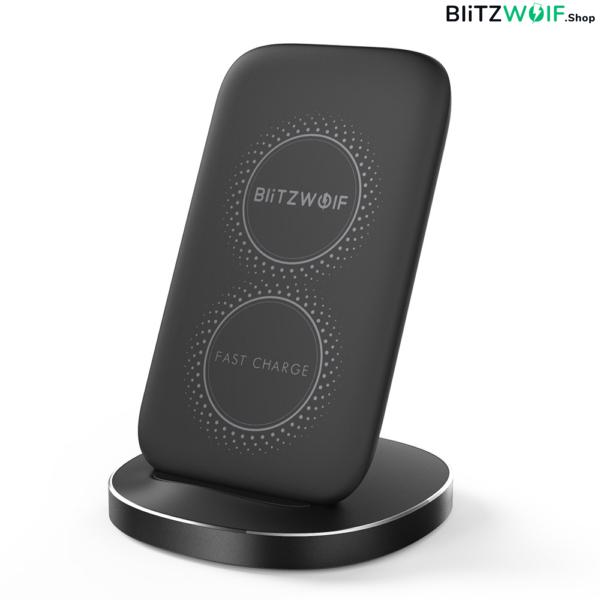 BlitzWolf® BW-FWC6: vezeték nélküli gyorstöltő és telefontartó - 10W