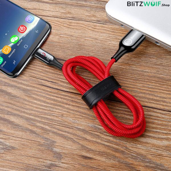 Baseus® Type-C töltő- és adatkábel (1m) - Piros