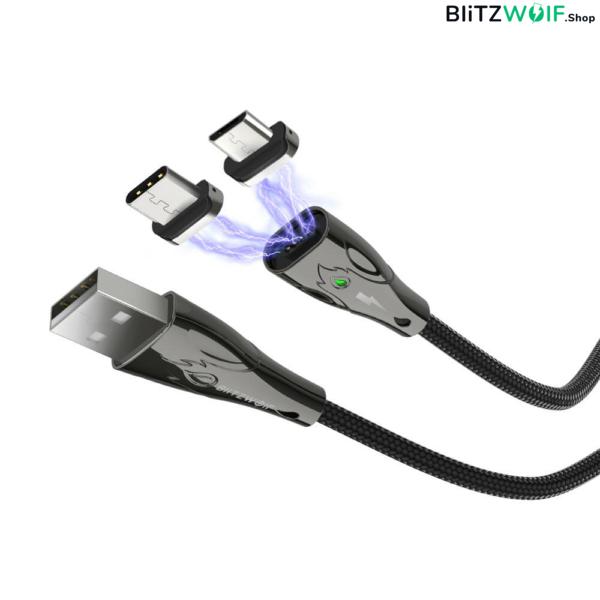 BlitzWolf® BW-TC20: Mágneses Type-C kábel