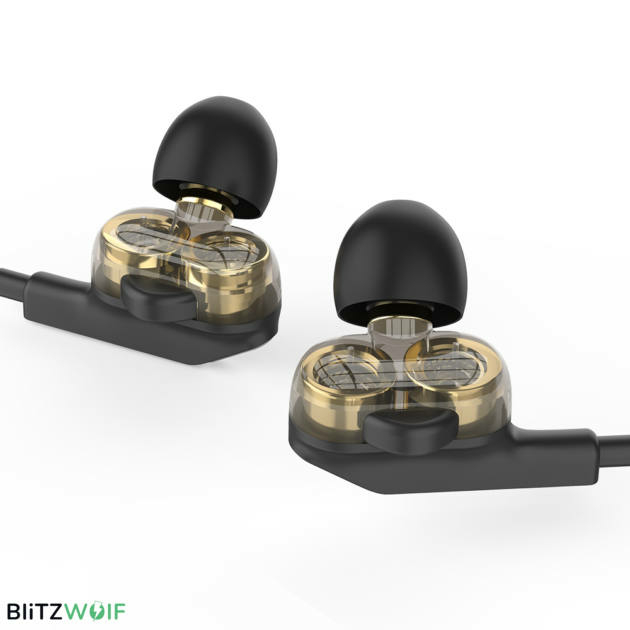 BlitzWolf® BW-ES6: 3,5mm csatlakozóval ellátott gamer fülhallgató mikrofonnal