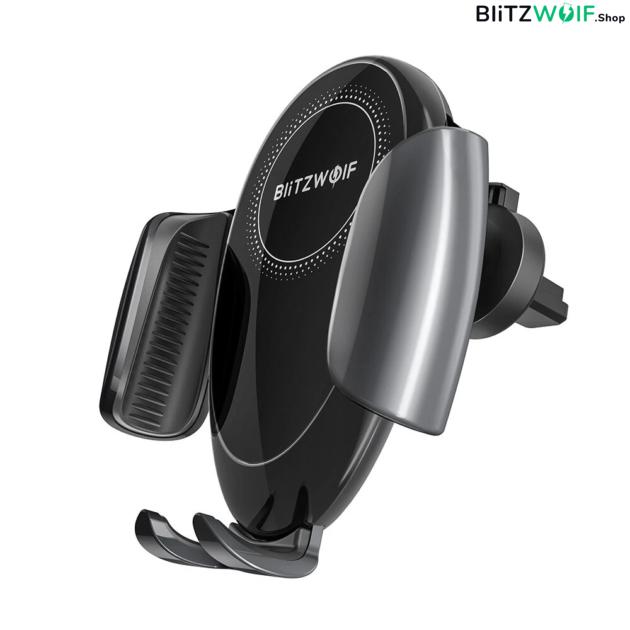 BlitzWolf BW-CW3: vezeték nélküli Qi gyorstöltő és autós telefontartó, 15W 1