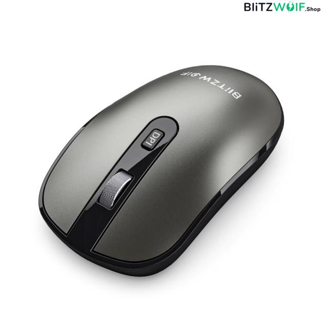 BlitzWolf® BW-MO3: 2.4 GHz-es vezeték nélküli bluetooth egér USB-A és Type-C vevővel