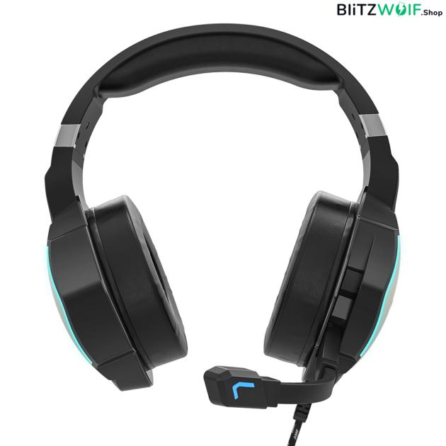BlitzWolf® BW-GH1 Pro: Bluetooth Gamer 7.1 fejhallgató RGB leddel és USB csatlakozóval