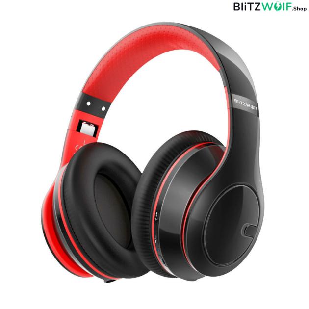 BlitzWolf® BW-HP1: vezeték nélküli Bluetooth fejhallgató beépített mikrofonnal 1