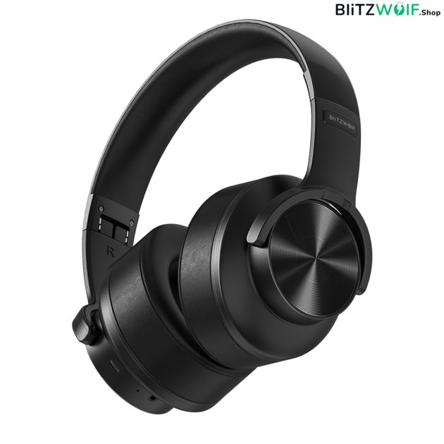 BlitzWolf® BW-HP2: vezeték nélküli Bluetooth fejhallgató beépített mikrofonnal 1