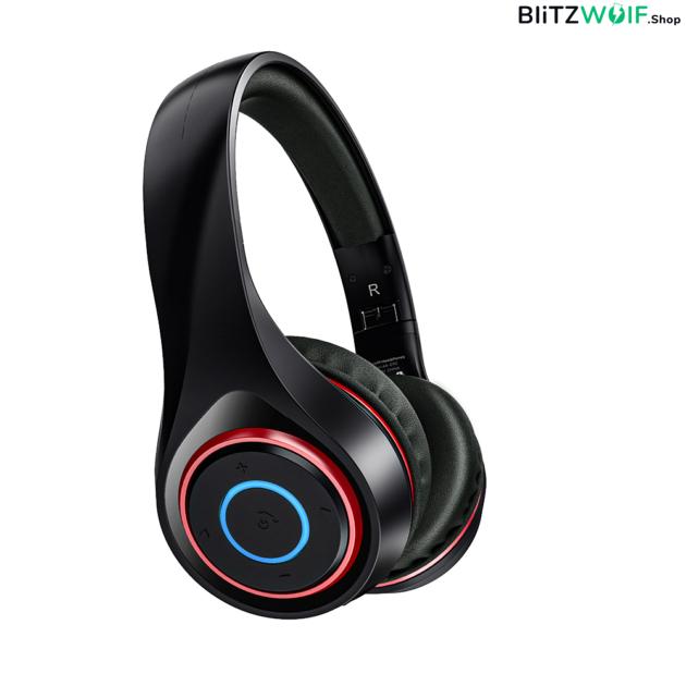 BlitzWolf® AirAux AA-ER2: grafén összecsukható vezeték nélküli fejhallgató beépített mikrofonnal 1