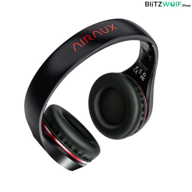 BlitzWolf® AirAux AA-ER2: grafén összecsukható vezeték nélküli fejhallgató beépített mikrofonnal