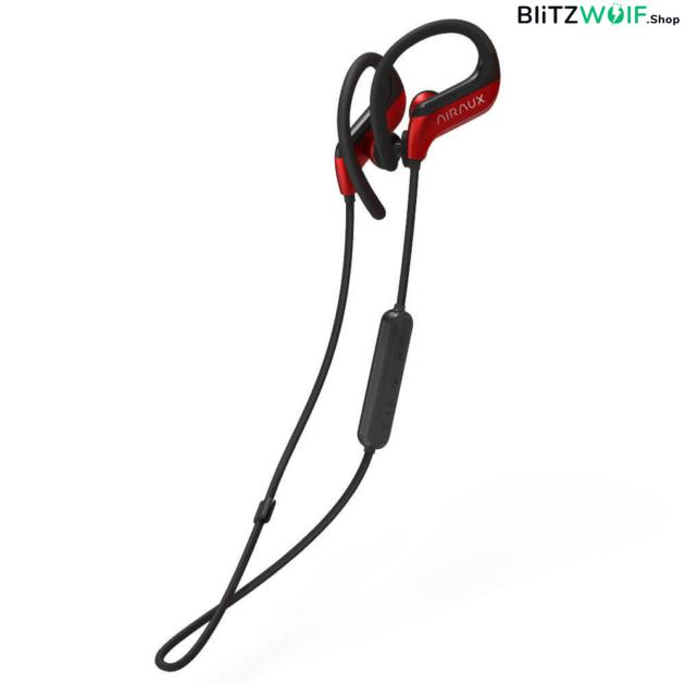 BlitzWolf® AIRAUX AA-NH1: Vezeték nélküli sztereó HiFi fülhallgató - fekete-piros