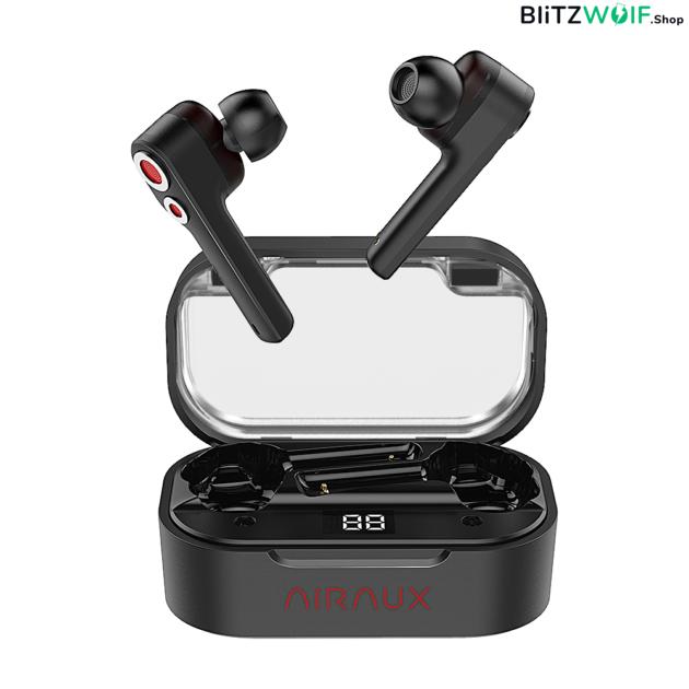 BlitzWolf® AirAux AA-UM6: TWS fülhallgató Dual Dynamic Driverrel és Type-C töltővel 1