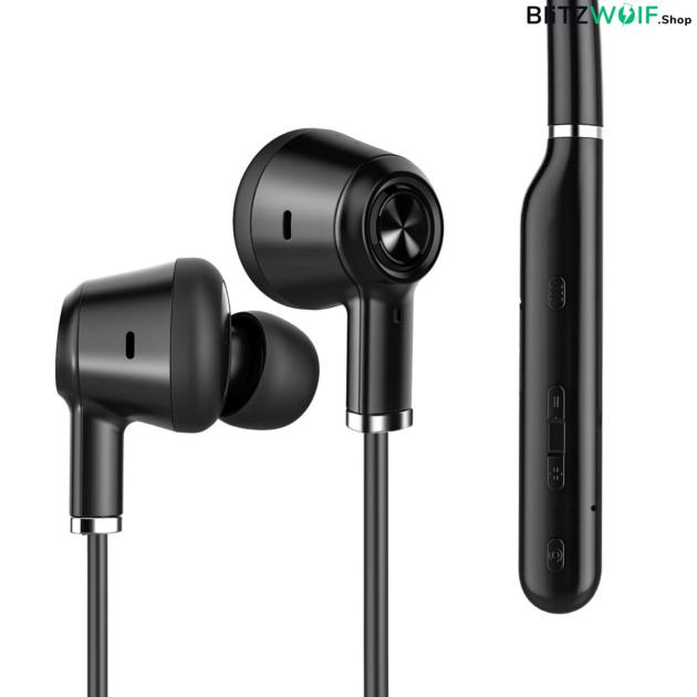 BlitzWolf® BW-ANC2: Bluetooth 5.0 fülhallgató aktív zajszűréssel és mikrofonnal