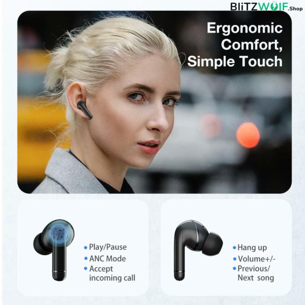 BlitzWolf® BW-ANC3: Bluetooth 5.0 TWS fülhallgató aktív zajszűréssel