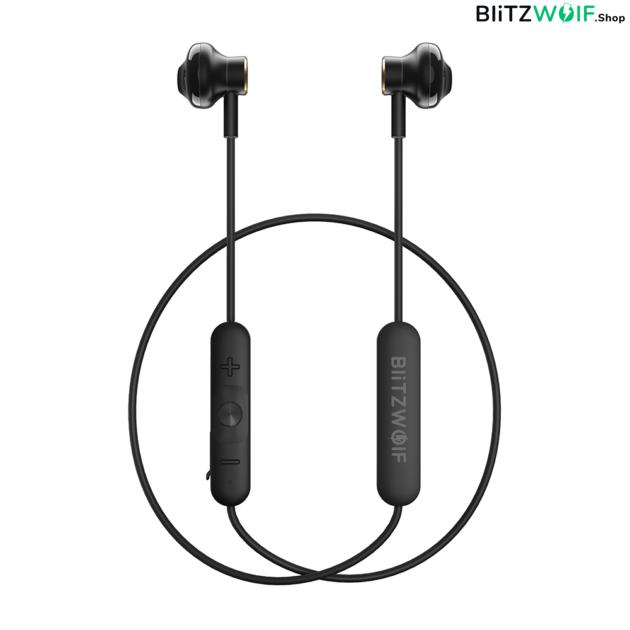 BlitzWolf® BW-BTS5: mágneses vezeték nélküli fülhallgató (IPX5)