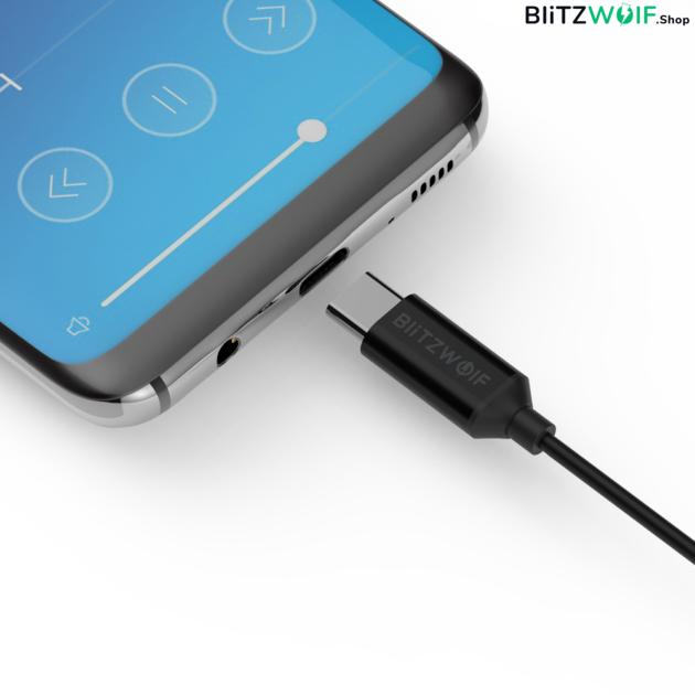 BlitzWolf® BW-ES5: Type-C csatlakozóval elátott fülhallgató