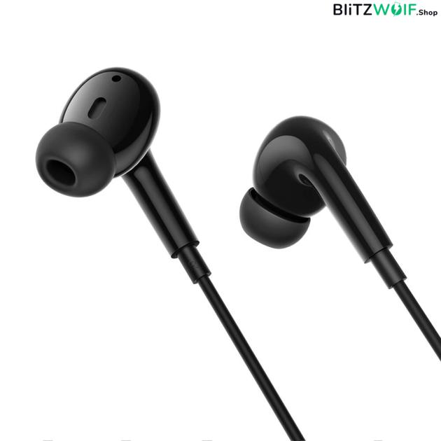 BlitzWolf® BW-ES7: 3.5mm-es jack dugós fülhallgató erős basszussal