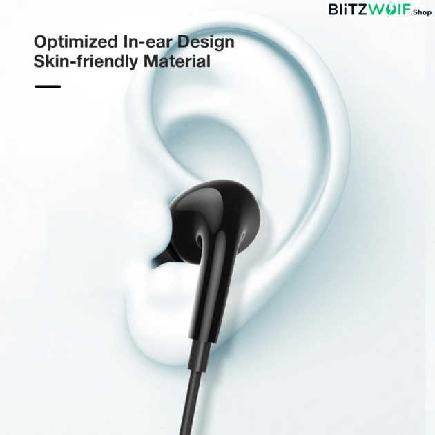 BlitzWolf® BW-ES7: 3,5mm-es jack dugós fülhallgató erős basszussal