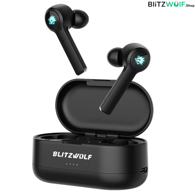 BlitzWolf® BW-FLB2: teljesen vezeték nélküli Gamer fülhallgató töltődobozzal 1